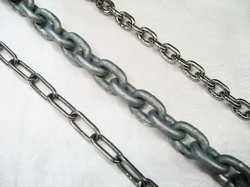 Short & Long Link Chain. Galvanised / Stainless Steel / Self Colour / Calibrated